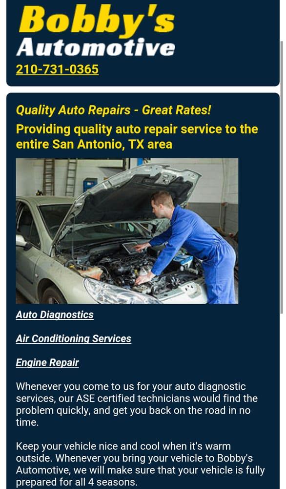 Bobby\u0027s Automotive - Auto Repair - 2200 Bandera Rd, San Antonio, TX