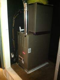 Up flow furnace and coil installed in hallway closet | Yelp