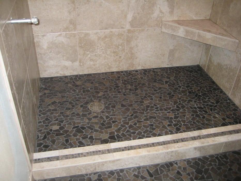 Small Flat Stone Shower Floor Yelp
