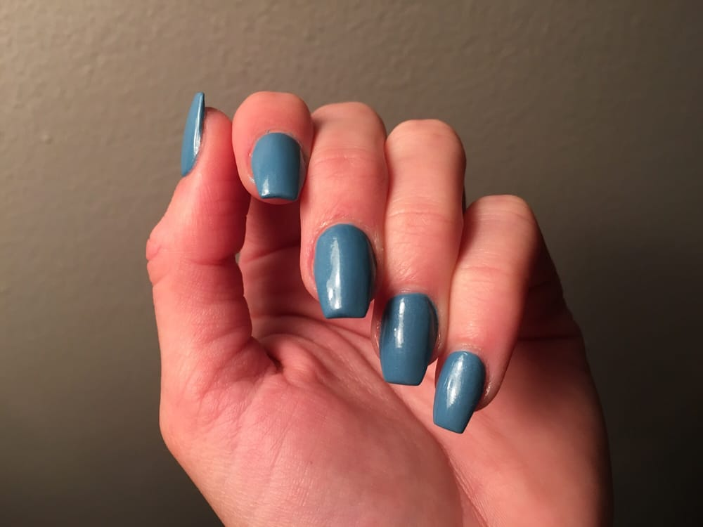 Sky Blue Coffin Shape Nails Yelp