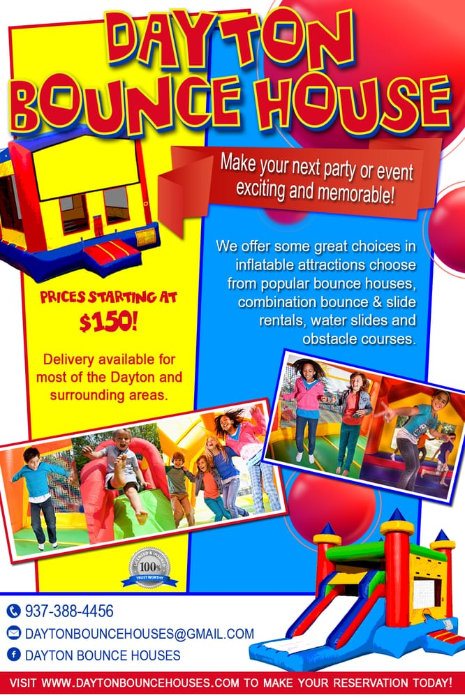 Dayton Bounce Houses - Get Quote - Bounce House Rentals - Miamisburg - bounce house flyer template