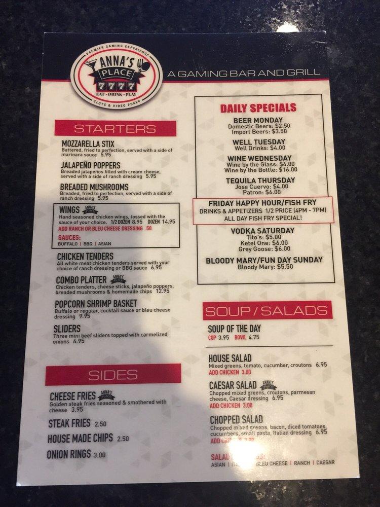 Anna\u0027s Place menu - Yelp