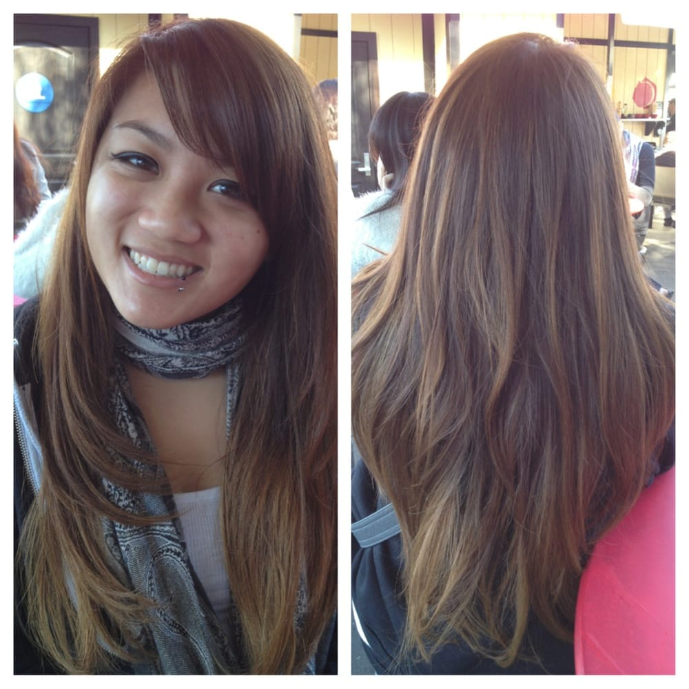 Black Hair Salon Near Me Layered Haircut And Subtle Ombré Highlights Yelp