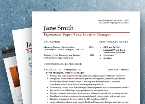 Our Premium Package includes a marketable resume, cover letter