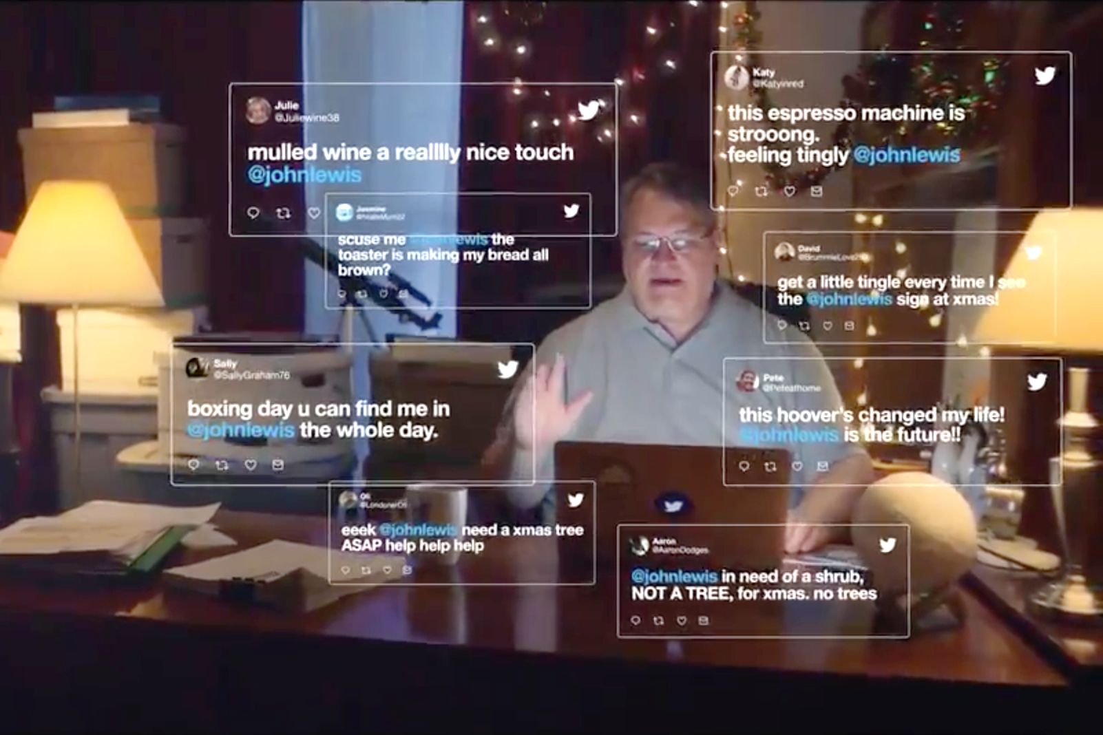 Best Christmas Commercials John Lewis A Man Not The Store Stars In Twitter S U K