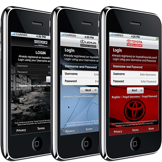Toyota Financial Services app lets iPhone users check accounts, pay