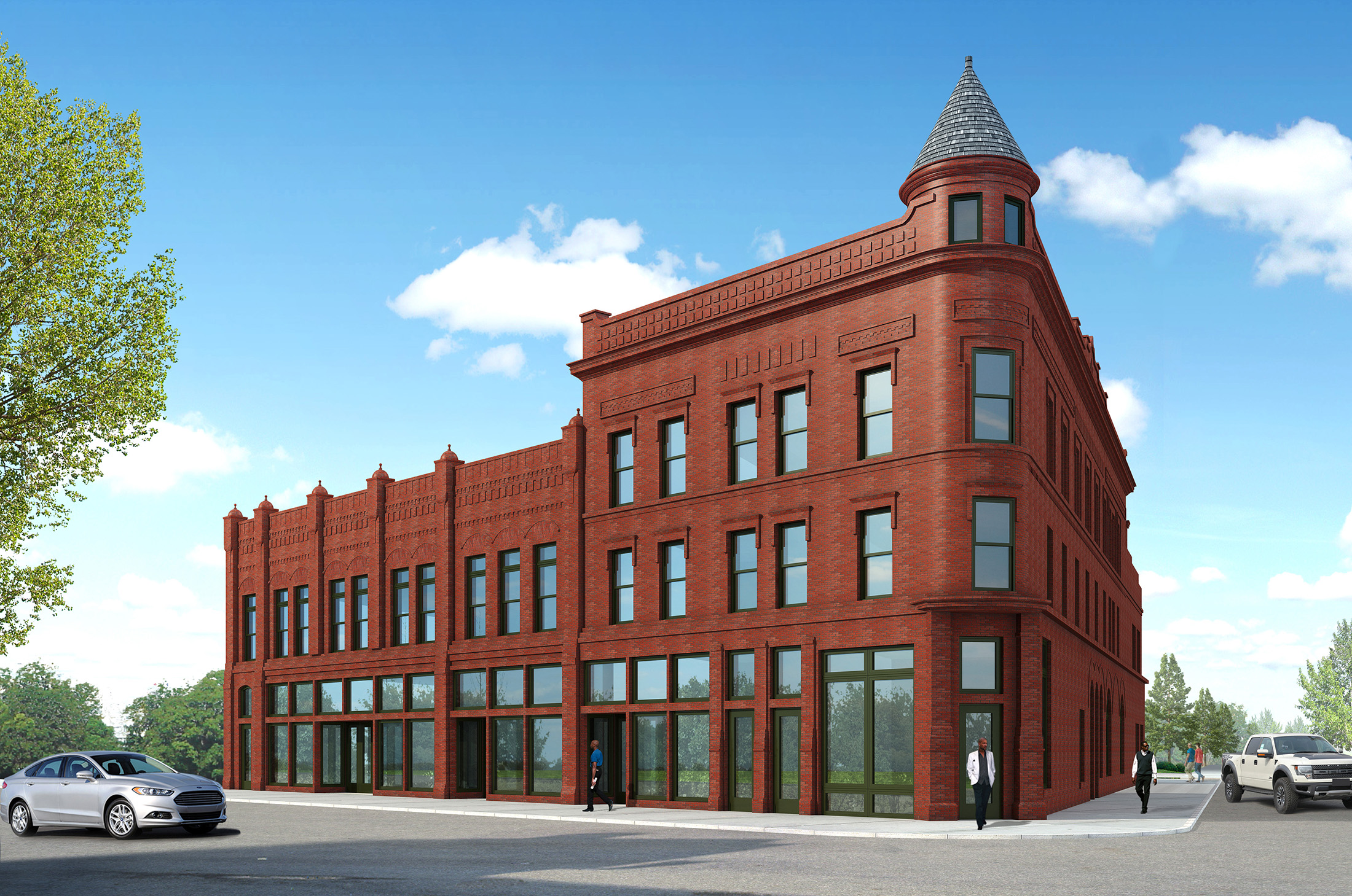 Warehouse For Sale Detroit Partially Collapsed Grosfield Building To Be Renovated In 4