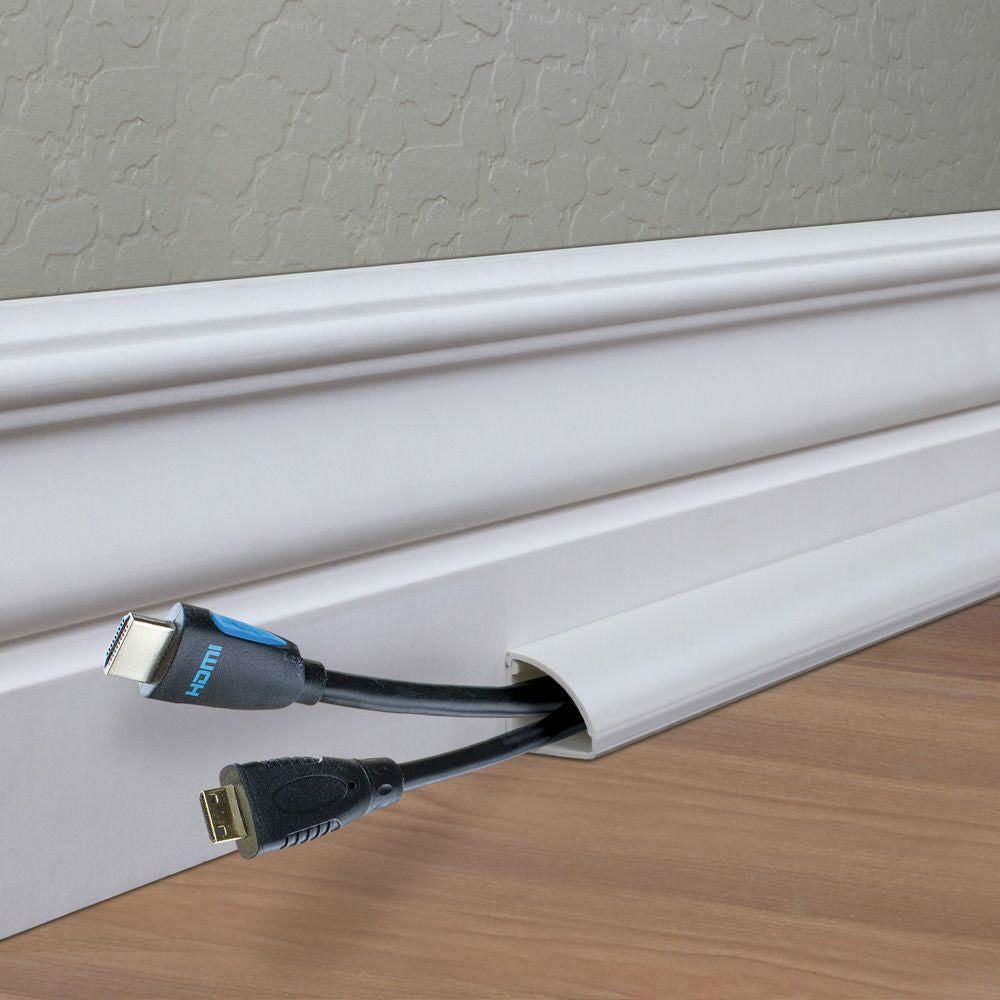 Floor Wire Molding 8 Tips For How To Hide Tv Wires And Other Cords Bob Vila