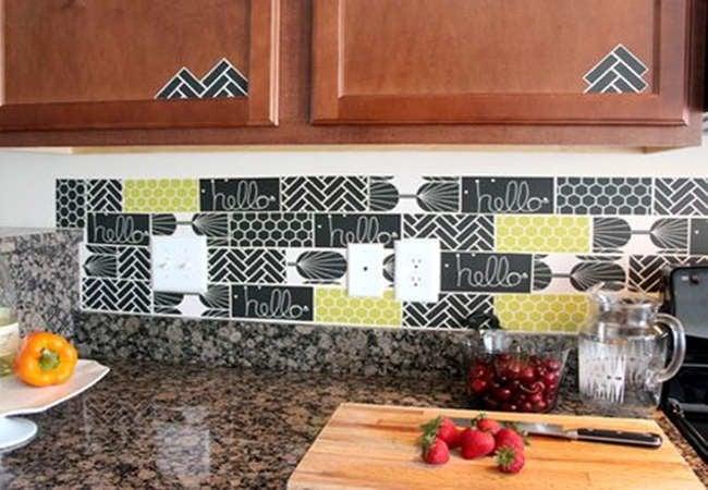 cabinets butcher block effective kitchen updates decorative rental friendly kitchen update wallpaper cabinets