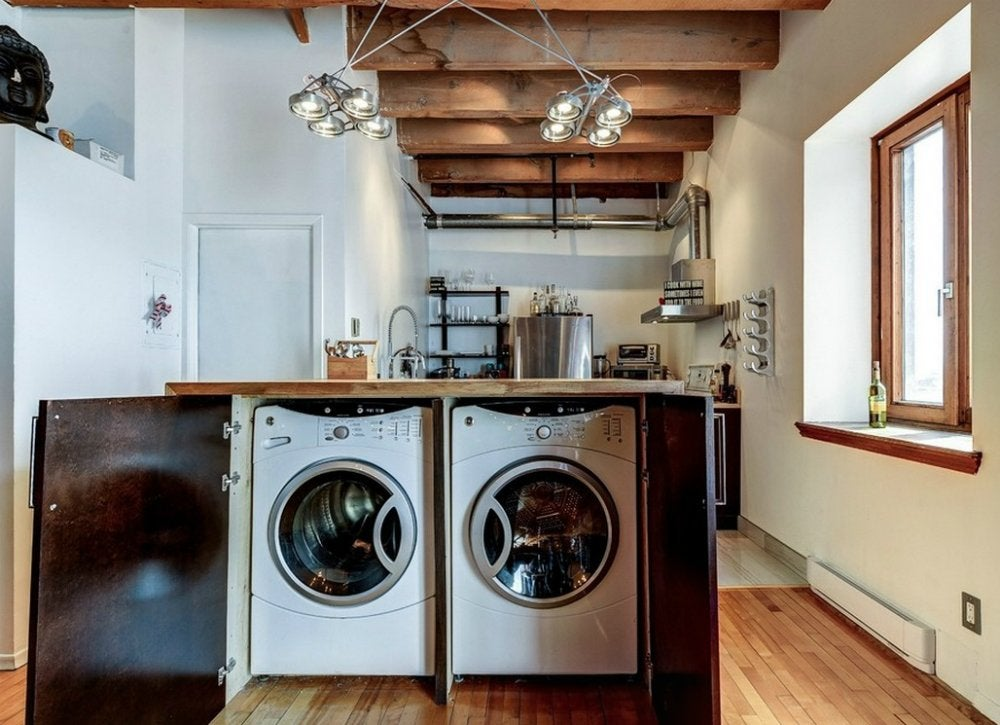 "Meuble Pour Superposer Machine A Laver Et Seche Linge Laundry Room Design - 8 ""invisible"" Spaces - Bob Vila"