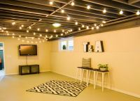 Hang String Lights - Unfinished Basement Ideas - 9 ...