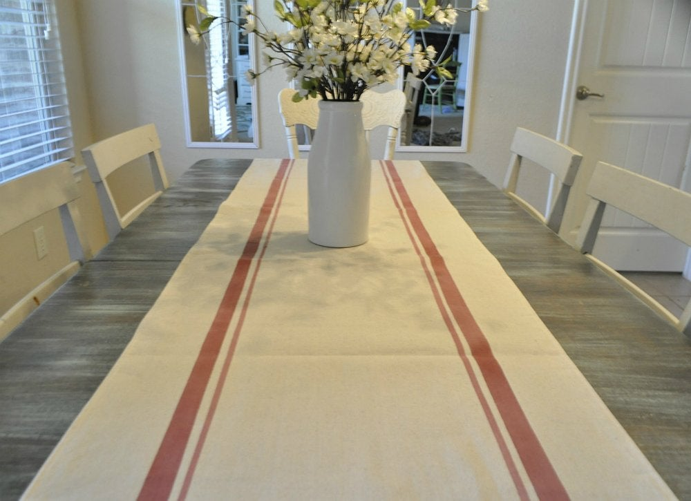 DIY Table Runner - Cheap Home Decor - 12