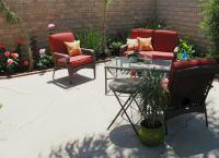 Concrete Patio - Backyard Landscape Ideas - 8 Lawn-Less ...