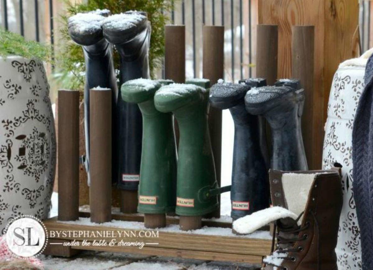 Diy Boot Rack 12 Ways To Check Slush And Snow At The