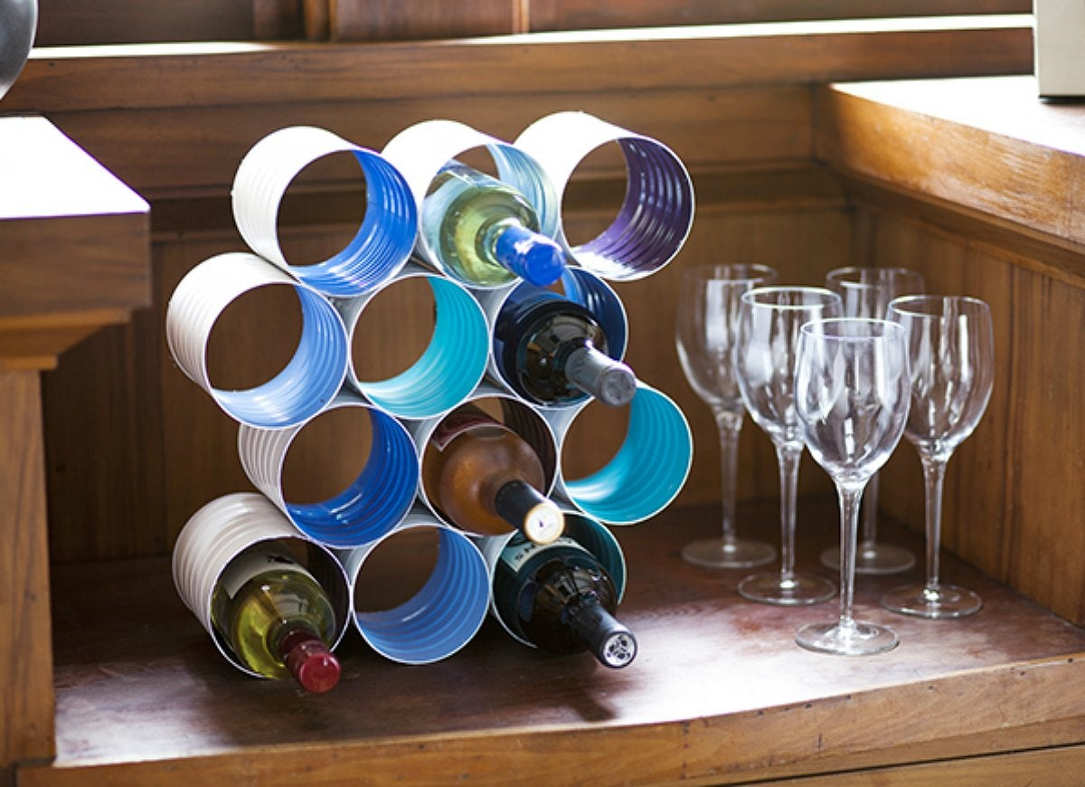 Diy Wine Storage Rack Diy This Wine Rack From Coffee Cans Diy Storage 18
