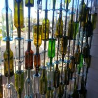 DIY Wine Bottle Wall - Wine Bottle Crafts - 10 New Uses ...