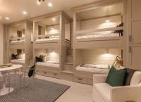 Beige Bedroom with Bunk Beds - Beige Paint - 19 Beautiful ...