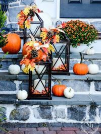 Fall Lanterns - DIY Outdoor Fall Decor - 13 Easy Projects ...