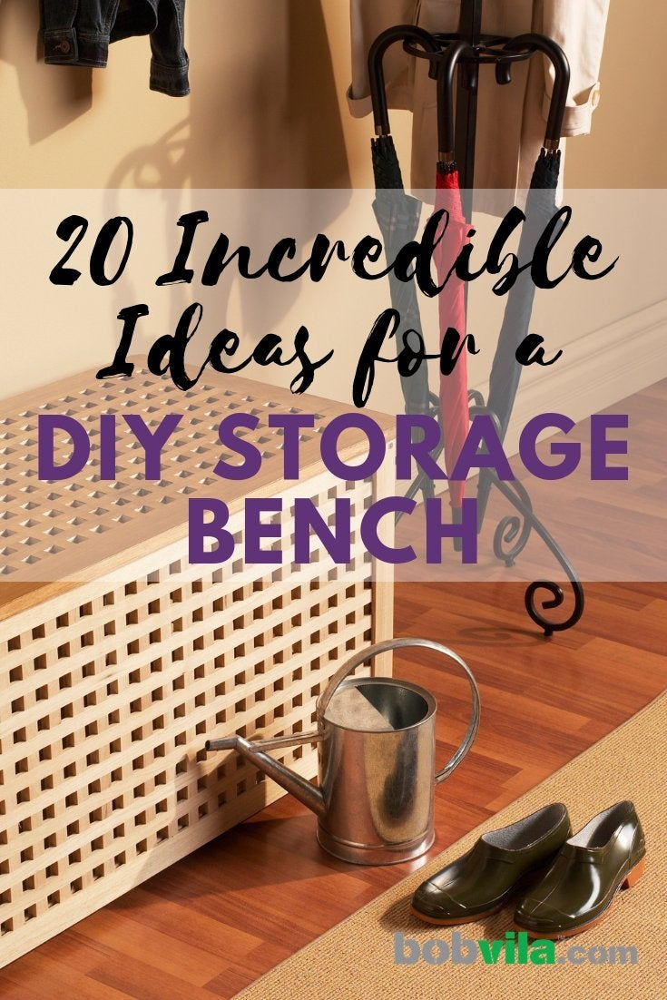 Storage Bench Ideas 20 Diy Storage Benches You Can Make Bob Vila