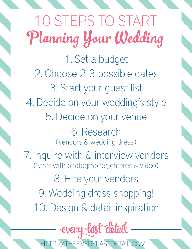 Newly Engaged? 10 Steps To Start Planning A Wedding! - Wedding Plans