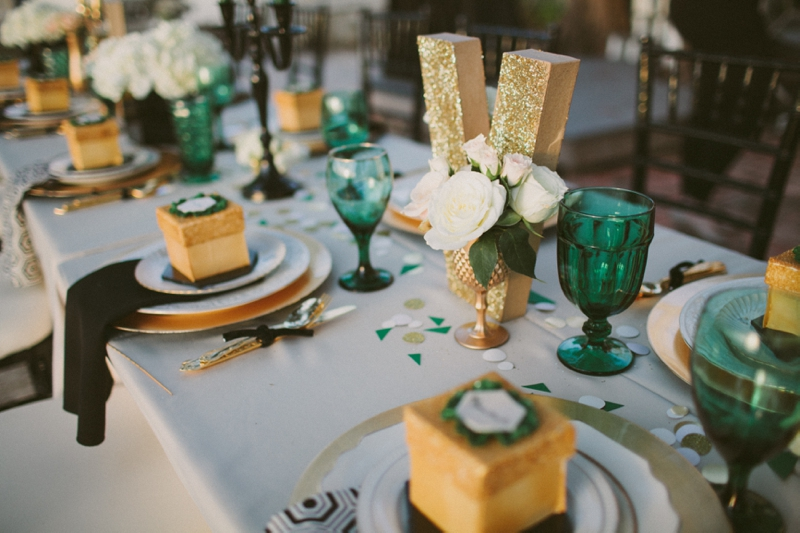 Emerald Green Gold Engagement Party Inspiration Every