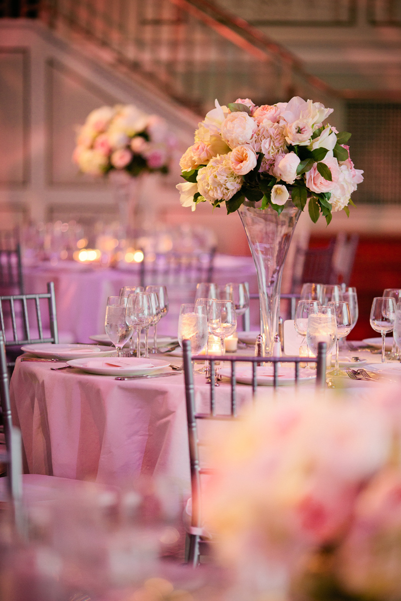 Table Tulip Elegant Pink, White, And Champagne Tennessee Wedding