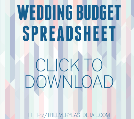 Wedding Budget 101 Every Last Detail