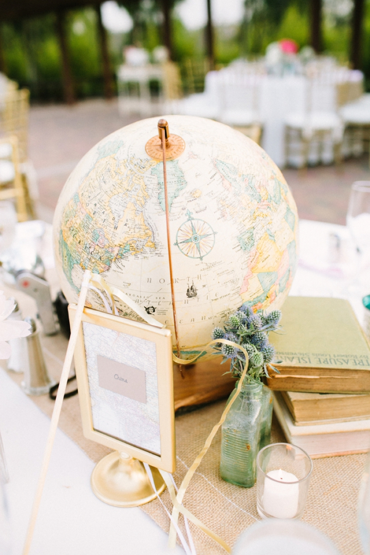 Travel Theme Ideas Blush Vintage Travel Themed Wedding Every Last Detail