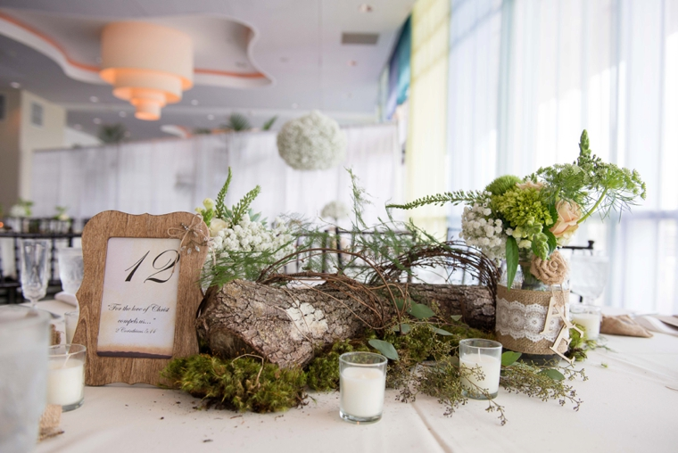 Rustic Green & White Nature Inspired Wedding