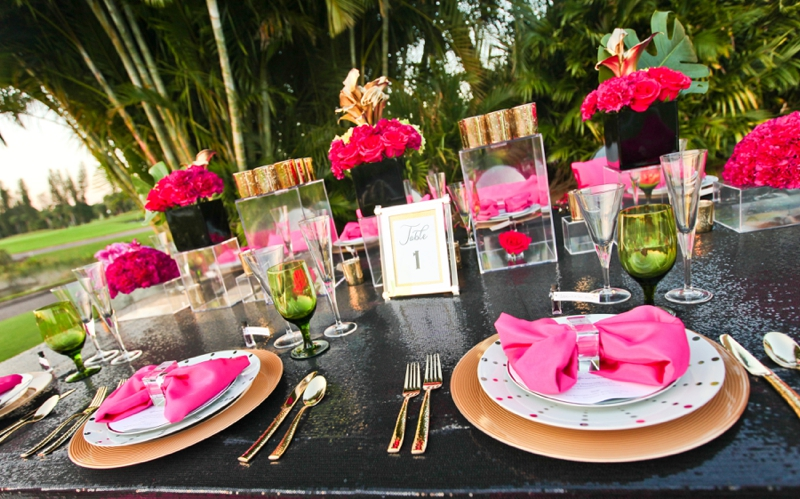 Modern Pink and Black Wedding Ideas Every Last Detail