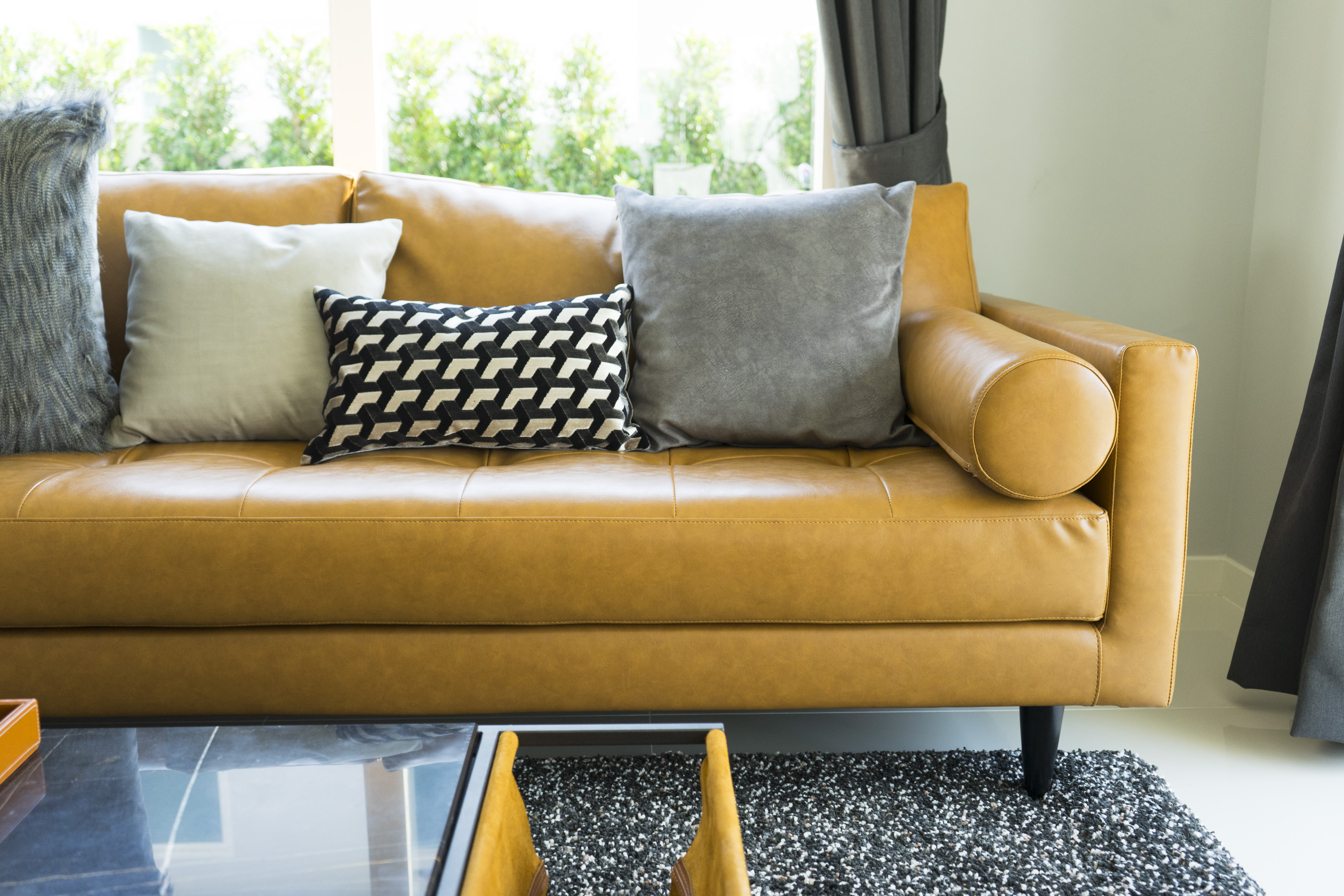 How To Fill Leather Sofa Cushions Sewn To The Frame