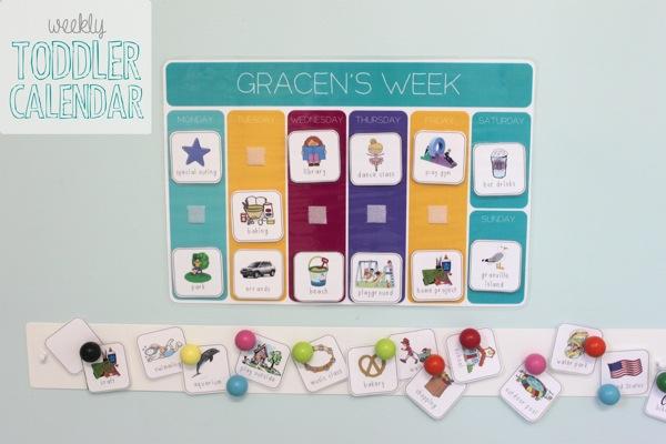 Miss G\u0027s Weekly Toddler Calendar - MamaPapaBubba