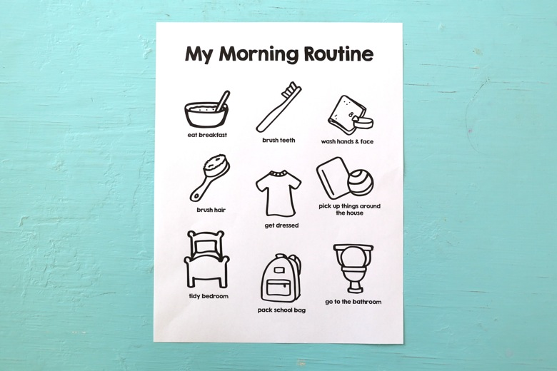 daily routine charts for adults - Holaklonec