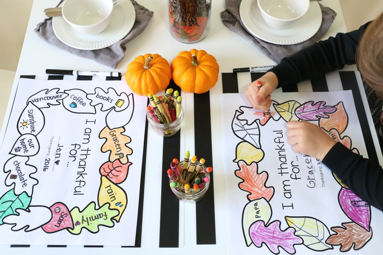 Printable Thanksgiving Placemats - MamaPapaBubba