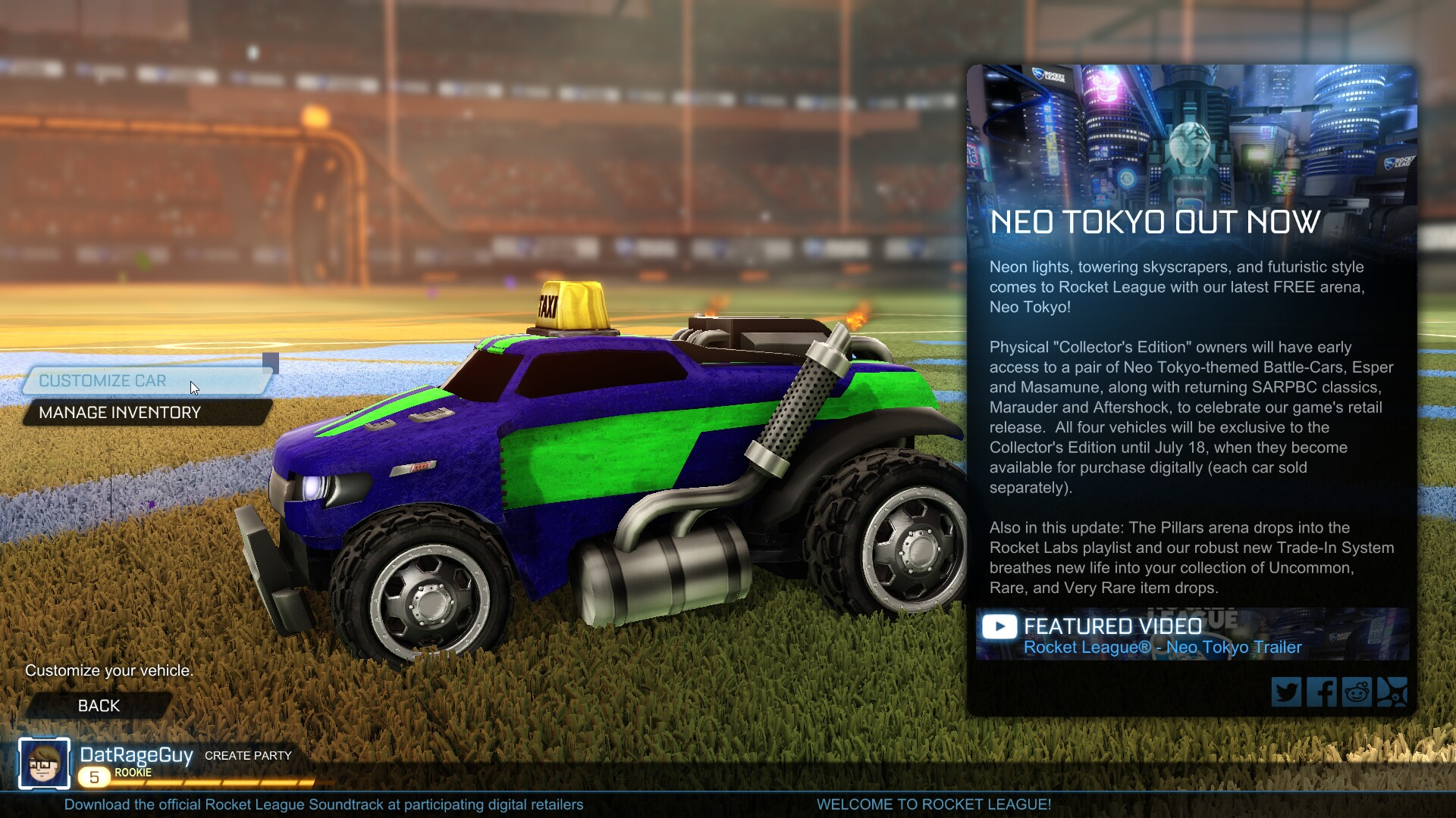 Rocketleague Garage How To Equip A Community Flag In Rocket League Shacknews