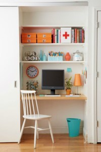 10 Ways to Turn Your Closet into an Office | Brit + Co