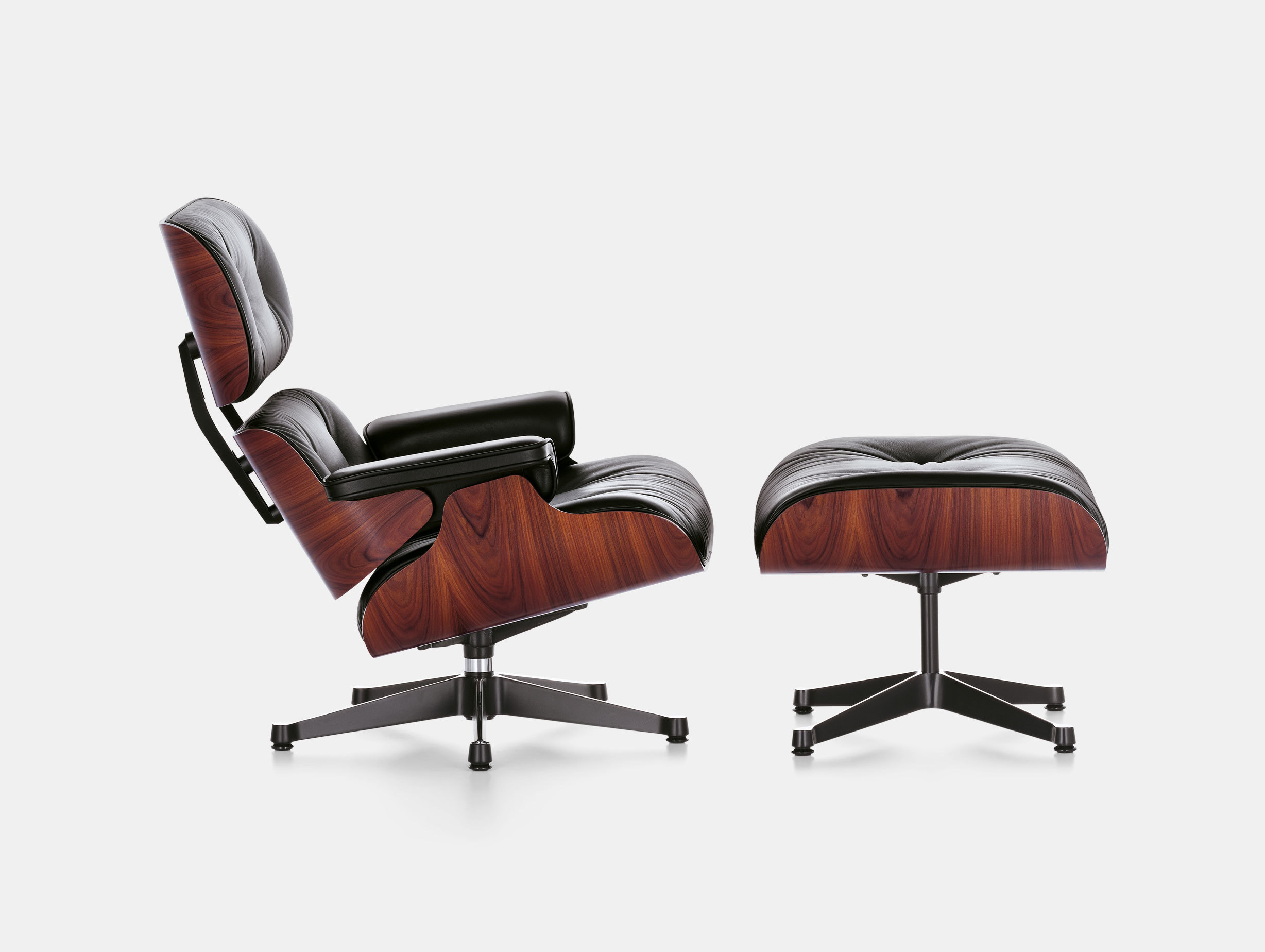 Vitra Eames Lounge Chair Black Eames Lounge Chair Ottoman Viaduct