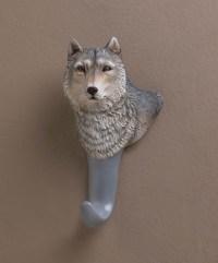 Wholesale Gray Wolf Wall Hook - Buy Wholesale Wall Decor