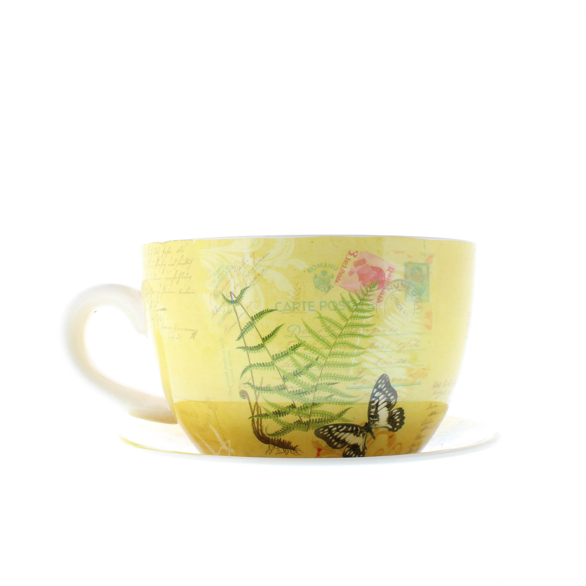 Large Tea Cup Planter Wholesale Large Butterfly Teacup Planter