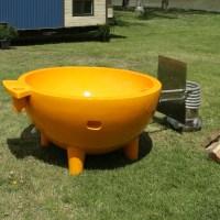Bath4All - ALFI Brand Orange Round Fiberglass Portable ...