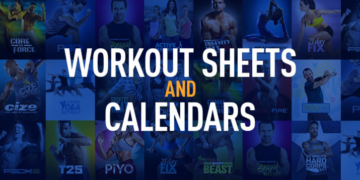 Workout Logs, Workout Sheets, and Calendars The Beachbody Blog