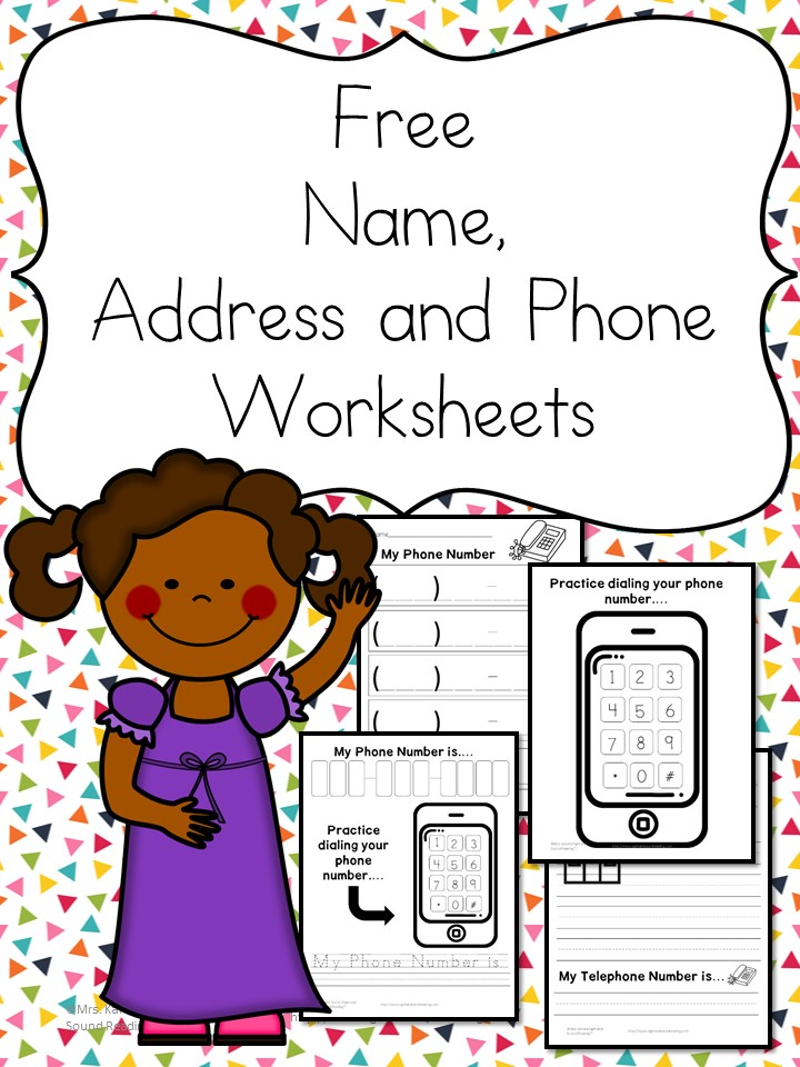Name Address Phone Number Worksheets \u2013 Free and Fun!