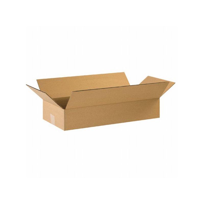 Box Packaging Flat Corrugated Box Kraft 25 Bundle Ebay