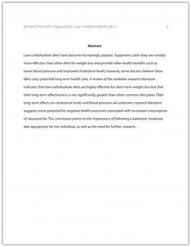 Formatting a Research Paper Business Communication Communication