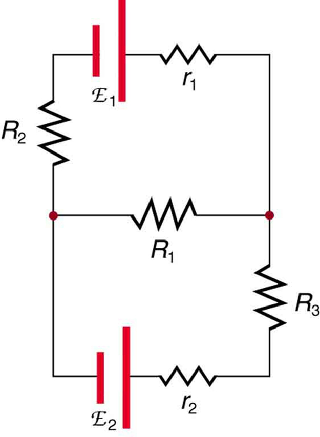 voltage drops in the circuit