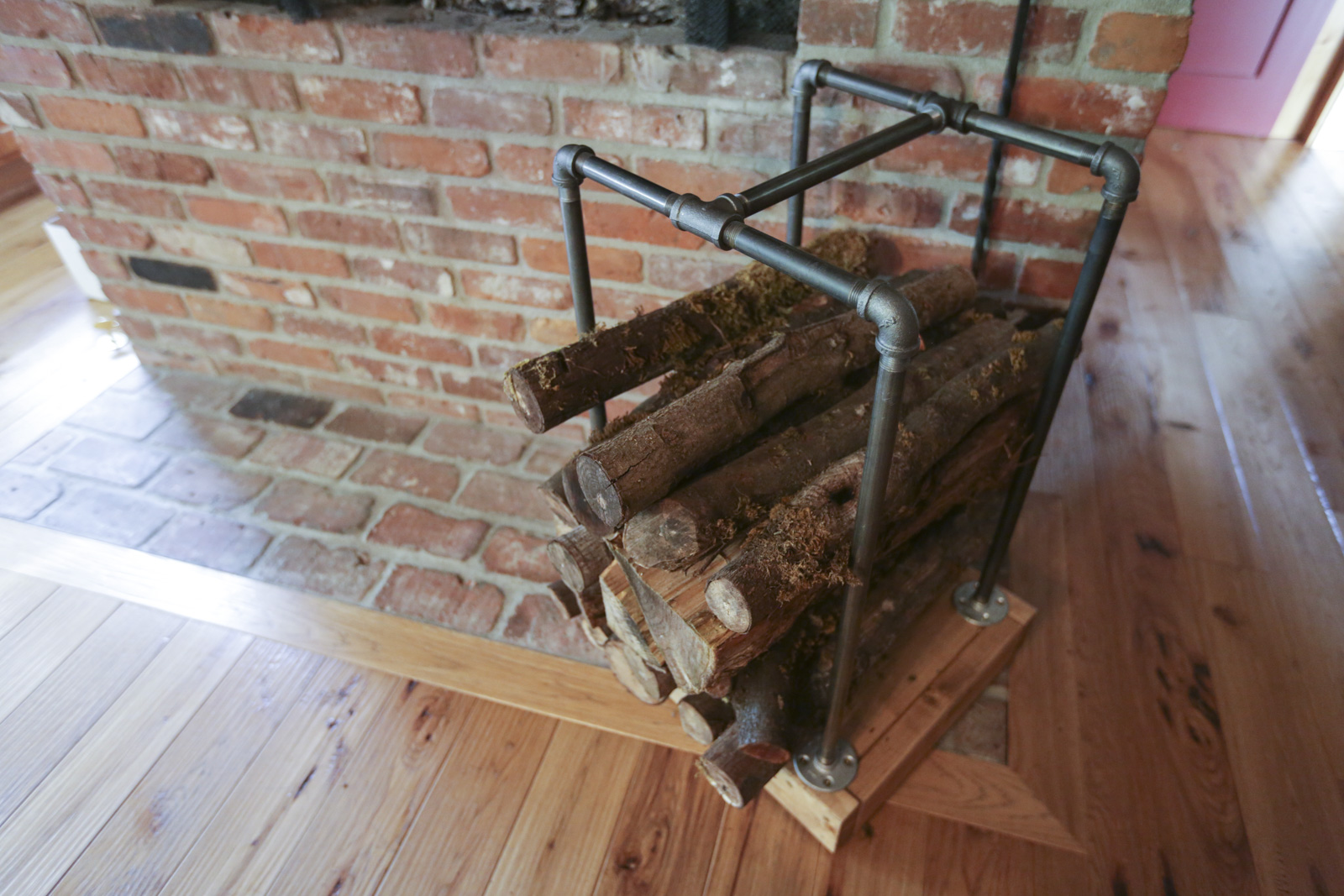 Firewood Rack Diy How To Make An Industrial Firewood Holder