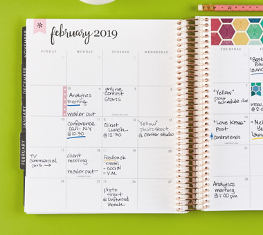 Large Monthly Planner Deluxe Monthly Planners Erin Condren