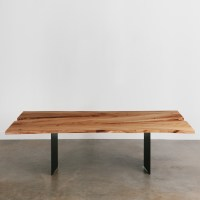Elm Dining Table - Elko Hardwoods | Modern Live Edge ...
