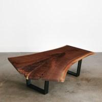 Walnut Coffee Table - Elko Hardwoods | Modern Live Edge ...