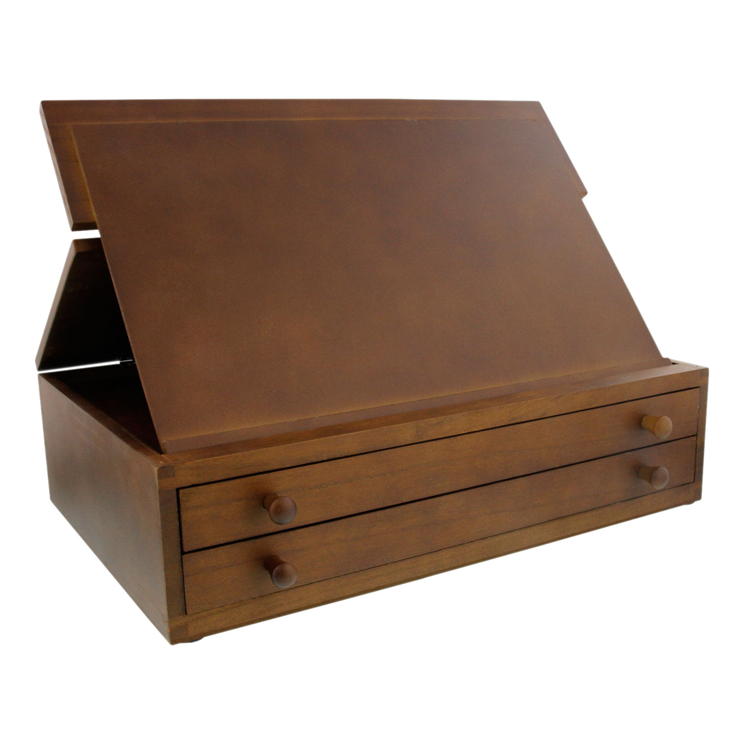 Us Art Supply 2 Drawer Adjustable Wooden Storage Box With